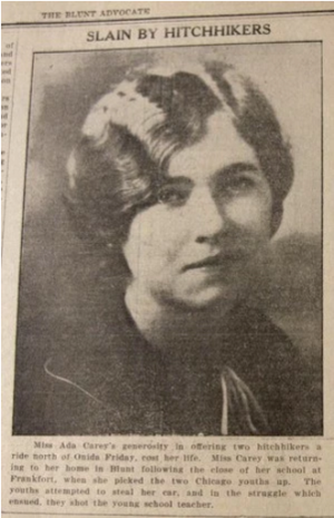 Ada Carey, murdered for offering a lift.