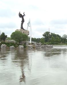 The Arkansas River at Wichita, site of the Joe Carr murder.
