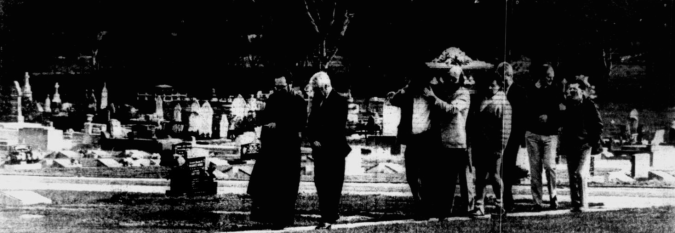 The funeral of Bill Wallace, who died, still incarcerated, at the age of 107.