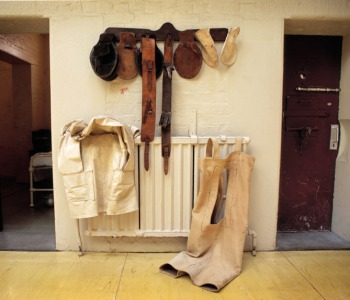 Restraints, much used in Fossard's time, displayed inside J-Ward, the Australian state of Victoria's secure mental facility in Melbourne. Photo by Darren Ward.