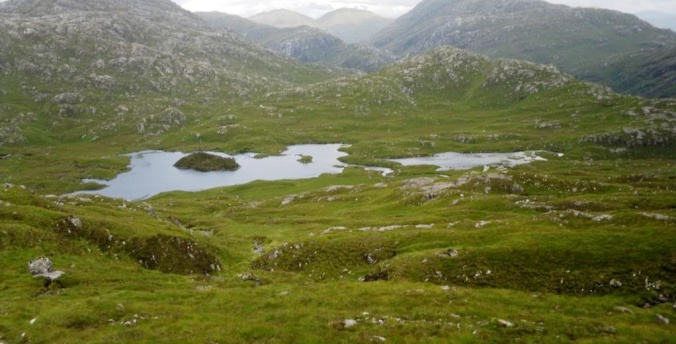 Lochan Tain Mhic Dougall from descent from Meith Bheinn