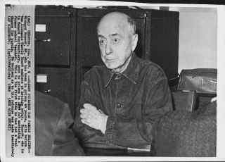 Richard Honeck at his parole hearing 1963