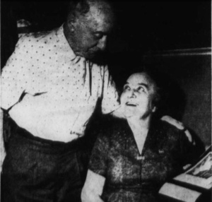 Richard Honeck with Clara Orth, 1963