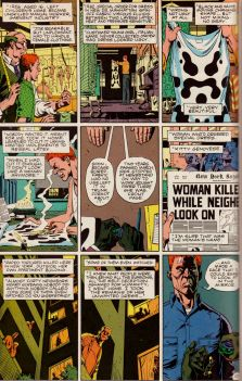 The Kitty Genovese case, from Moore & Gibbons's Watchmen. Click to view in larger size.