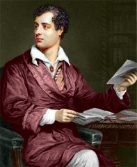 Byron: a Romantic pose.