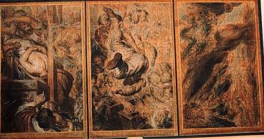 Dernières pensées et visions d'une tête décapitée-Last thoughts and visions of a decapitated head, triptych, 1853