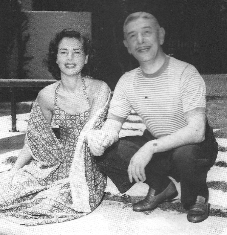 Mike Romanoff with his bride and business manager, Gloria Lister, 1947 ...