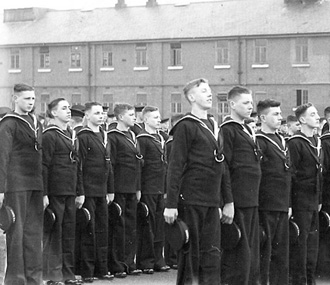 Naval cadets parade in Chatham, Kent, a few years before the Kersey timeslip case.