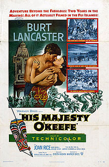 O'Keefe's story was given the Hollywood treatment in the 1950s – a version that considerably exaggerated  his role on Yap and indulged all the usual South Sea island stereotypes.
