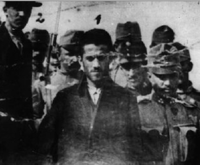 Gavrilo Princip is arrested for the assassination of Archduke Franz Ferdinand and his wife–Sarajevo, June 28, 1914.