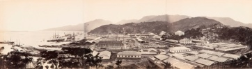 The Chinese port of Fuzhou, starting point for the great Tea Races, in about 1860.