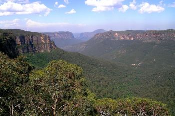 "The Blue Mountains formed an impassable barrier to early settlers in New South Wales. Legends soon grew up of a white colony located somewhere in the range, or past it, ruled by a ""King of the Mountains."" Not even the first successful passage of the chain, in 1813, killed off this myth."