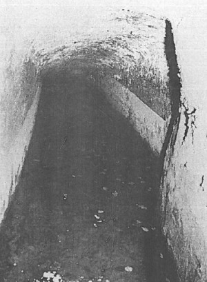 """The """"River Styx""""–an underground stream, heated almost to boiling point in places, which runs through at the deepest portions of the tunnel complex. It was the discovery of this stream that led Paget to formulate his daring hypothesis that the Great Antrum was intended as a representation of the mythic underground passageways to Hades."""