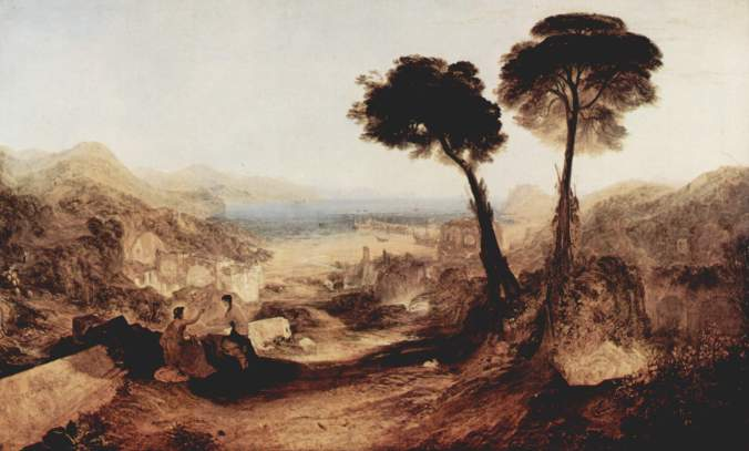 Baiae and the Bay of Naples, painted by J.M.W. Turner in 1823, well before modernization of the area obliterated most traces of its Roman past. Image: Wikicommons.