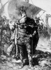 Vikings as portrayed in a 19th-century source: fearsome warriors and sea raiders.