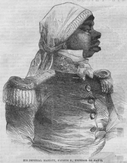 "Faustin Soulouque—better known as Emperor Faustin I (1849-1859)—was the first Haitian leader to openly support vodou. A former slave, he derived ""mystical prestige"" from his association with the religion."