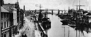 The Irish port of Drogheda during the famine period.