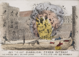 The Clerkenwell explosion, on December 13, 1867, was part of an attempt to rescue several Irish republicans from a London jail. Four people died and 68 more were injured, and in the resulting hysteria 50,000 Britons volunteered as police auxiliaries and six Irishmen were tried for murder.