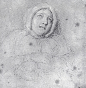 The Marquise de Brinvilliers, sketched on her way to her execution in 1676.