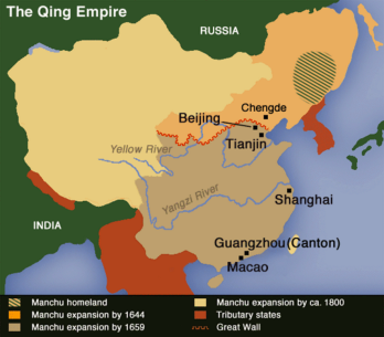 China under the Manchus, showing the growth of empire between 1644 and 1800. the soulstealing panic took place along the country's eastern coast, between the Yangtze and Beijing.