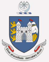 The coat of arms of the Irish port of Drogheda, showing the crescent moon and star (top) that confused Mary McAleese.