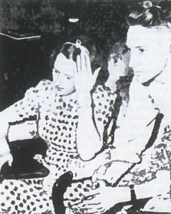 Etta Bivens and her son Russell shortly after hearing news of Carl Bivens's murder. Etta asked for mercy for the killer – but did not intend what happened next.