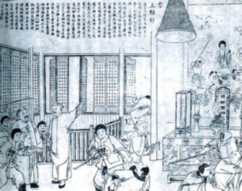 Qing officials arresting members of the White Lotus, a Buddhist secret society