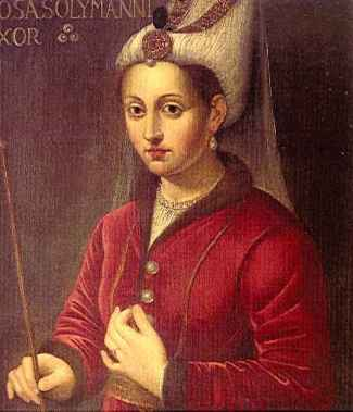 Aleksandra Lisowska, also known as Roxelana, was a Polish girl taken as a slave during the 1520s who became the favourite wife of Suleiman, the greatest of all Ottoman sultans, and mother of Sultan Selim II. From a contemporary painting.