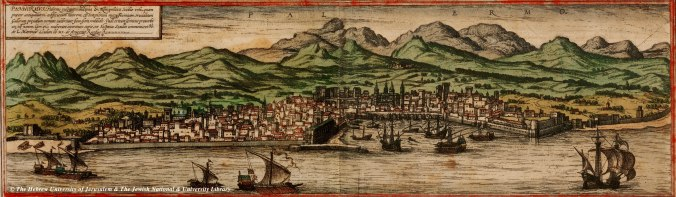Palermo as it was at the time the poisoner Giulia Tofana was born there. From the 1572 atlas of Georg Braun and Hogenberg.