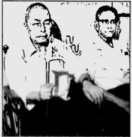 Shigeyuki Hashimoto and Kiyoaki Tanaka after their surrender at the end of 1989. The poor quality of the image, and the difficulty of locating it in a contemporary newspaper – the Kokomo Tribune – reflect the two men's liminal status, caught between Malaysia and Thailand, legitimate conflict and failed guerrilla campaigns, war and peace.
