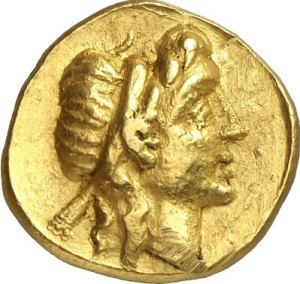 A coin struck by Eunus, showing him as King Antiochus.