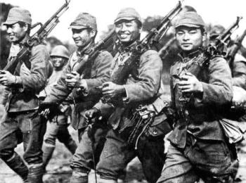 Japanese soldiers of the World War II period.