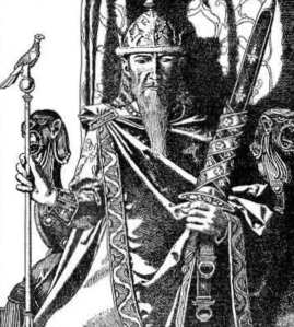 King Mark of Cornwall – the hypothetical ruler of a trans-Channel Celtic state, and an important figure in the Arthurian tradition. Illustration by Howard Pyle, 1905.