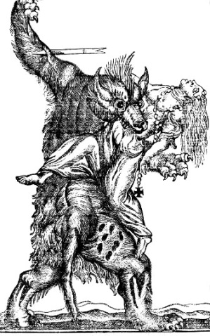 A French werewolf, from an engraving of the 18th century.