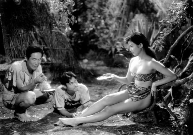 The experiences of the 21 Japanese sailors – and one civilian woman – left living on the island of Anatahan between 1945 and 1951 was dramatised in two films. The Japanese entry, XXX's Revenge of the Pearl Queen, starring Michiko Maeda, is a good example of how the unusual situation on the island was glamorised and sexualised.