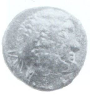 "A poor-quality bronze coin issued in Sicily around Eunus's time. Peter Morton suggests that this, more than any other surviving piece of evidence, is likely to show the head of ""King Antiochus"" as he wished to be seen by his subjects."