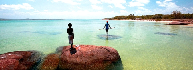 The coast of Arnhem Land, in Northern Australia – scene of first contact between Australian Aborigines and Makassan fishermen sometime around 1700.