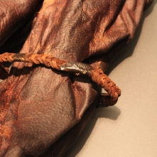 The decorated leather armlet found on Old Croghan Man.