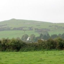 The remains were discovered below Croghan Hill