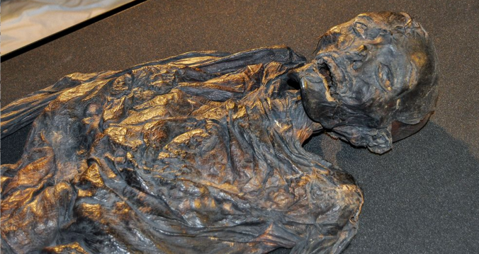 "The body of ""Queen Gunhild"" – more properly known today as Haraldskær Woman – was found in 1835 and, thanks to careful treatment and storage, is exceptionally well preserved today."