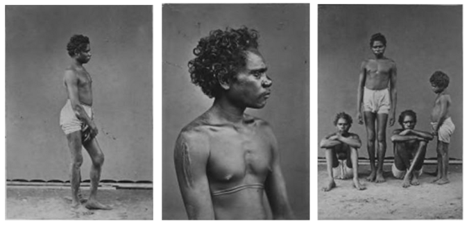 "Dreamtime voyagers: the items in this remarkable group of portraits are the only known images of Aboriginal voyagers to Makassar. The photos – captioned ""Orang Mereghi: Australiani del Nord fotografati a Macassar (Selebes)"" were taken in the city in 1873 and now form part of the collection of Odoardo Beccari in the Museo Nazionale Preistorico Etnografico 'Luigi Pigorini' in Rome."