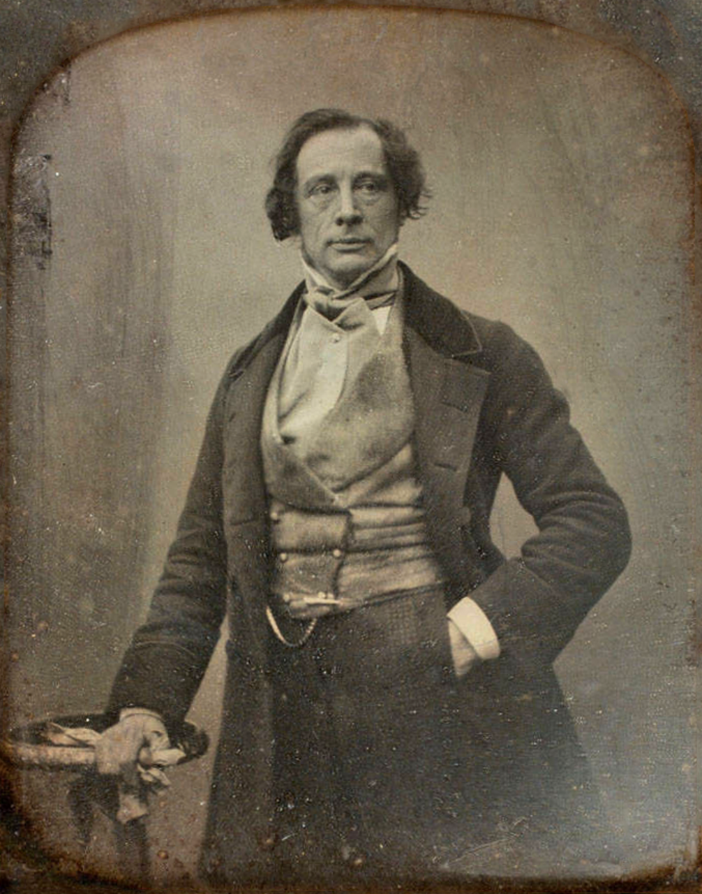 Charles Dickens – a daguerrotype taken in 1852